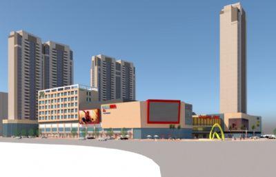 现代商业广场,购物中心整体设计
