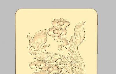 凤浮雕,朱雀金块浮雕