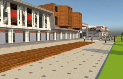 商场,商业街整体设计