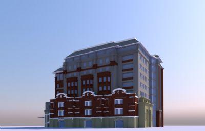 別墅房子su模型