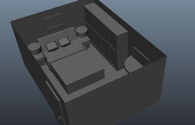 房间maya模型