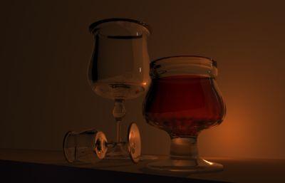 �t酒酒杯Maya模型