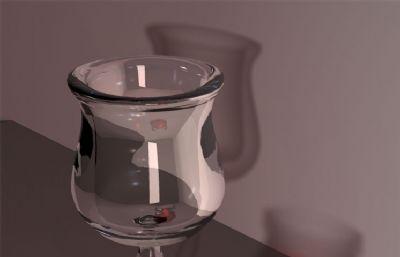 maya�t酒杯模型