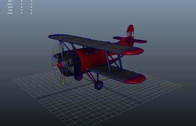 q版飞机纸模_Q版卡通飞机,滑翔机游戏模型,MB,FBX,OBJ格式,飞机,运输模型,3d模型 ...