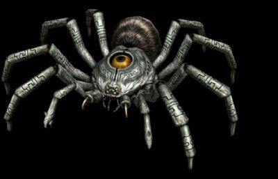 蜘蛛,單眼蜘蛛,游戲模型,FBX,MB,OBJ格式