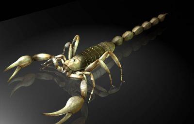 蝎子,木蝎maya?#35789;?#26118;虫模型,有MB,FBX,OBJ等格式
