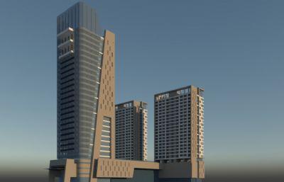商业楼商场su模型