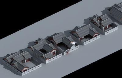 9款古建一层建筑农?#20197;?#21035;墅max模型