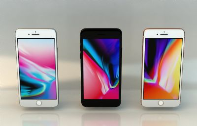 iphone8�y色,黑色,玫瑰金三款手�Cmax模型