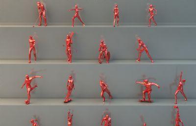 低面運動風格廣場人物雕塑
