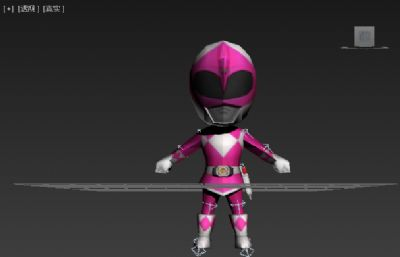 Q版假面超人,金刚战士粉色款低模