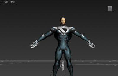 超人形态模型低模二