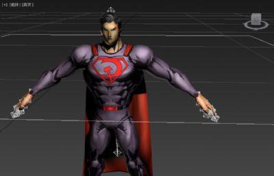 超人形�B模型低模三