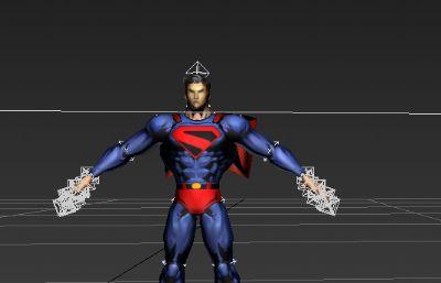 超人形�B模型低模四