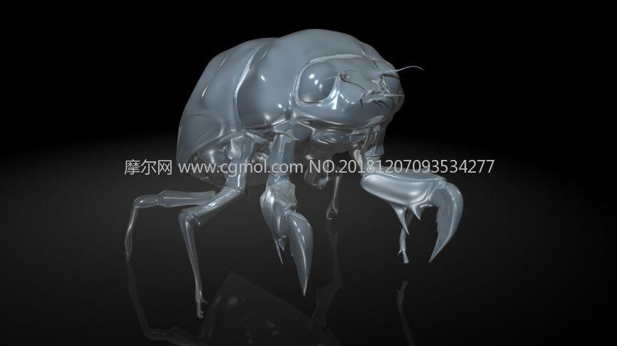 幼蝉猴,蝉若虫,爬拉猴MAYA模型,有MB,FBX,OBJ格式