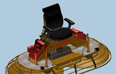 驾驶型抹平机max2012模型,道?#38750;?#38754;施工