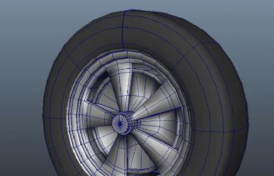 maya老式轮胎模型
