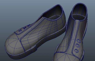 解放军大头鞋maya模型