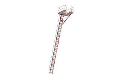 斜爬梯平台max模型