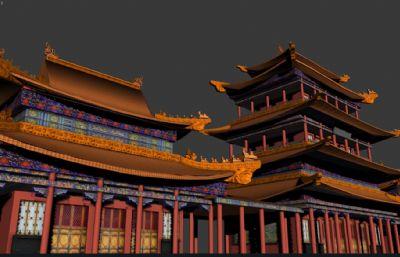 藏��w寺�R群建筑max模型
