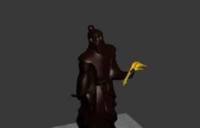 神农氏青铜雕塑max简模