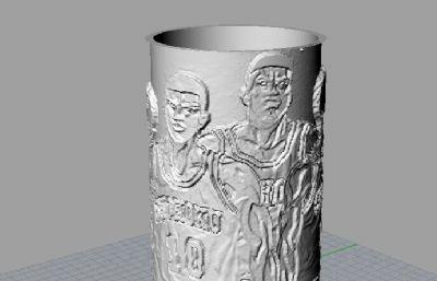 灌篮高手五虎将套筒装饰3D打印模型