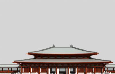 寺�R�m殿古建筑max模型