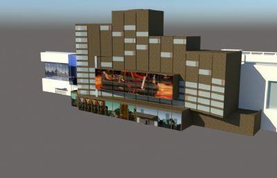 简单商场,专卖店,电器商场su模型