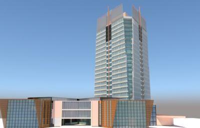 酒店su模型