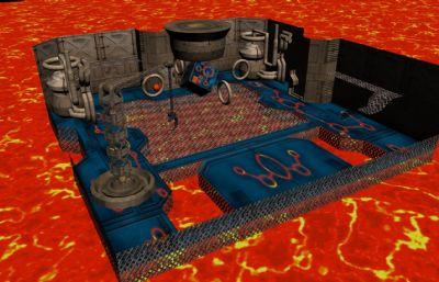 火焰机械都市max游戏场景模型