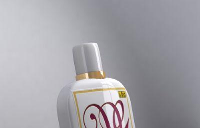 大宝SOD蜜包装瓶子max模型,带贴图