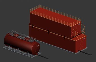水箱及油箱max模型