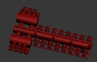 高低�汗�R�管道max模型源文件