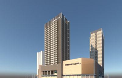 商业广场,商业综合体su模型