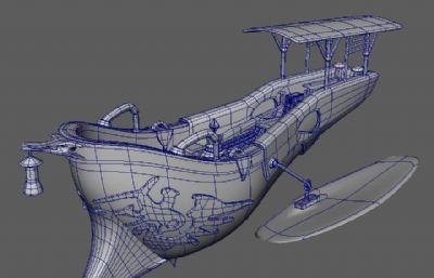 船,可以�w的船Maya模型