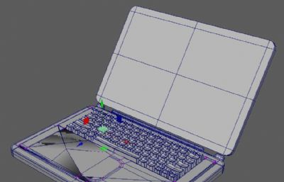 電腦,筆記本電腦maya模型