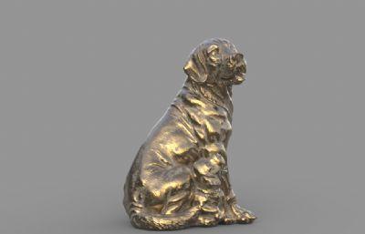 狗����和狗������g雕塑STL模型