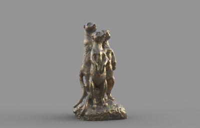 狐�B雕塑STL模型