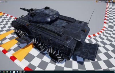 军队轻型装甲车UE4文件,有max,ma格式(网盘下载),max,maya打开无炮台