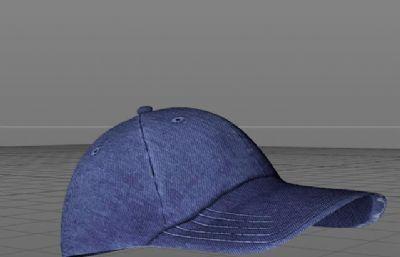 棒球帽,牛仔��舌帽C4D模型,有OBJ格式