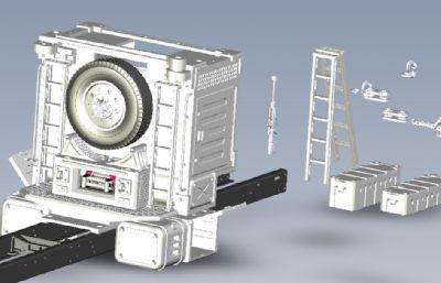 模型车大梁附件STEP格式模型