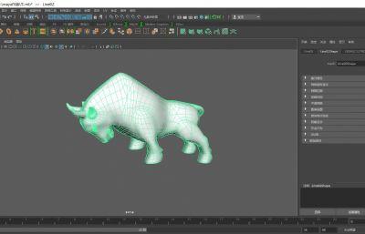 公牛,招�牛maya模型