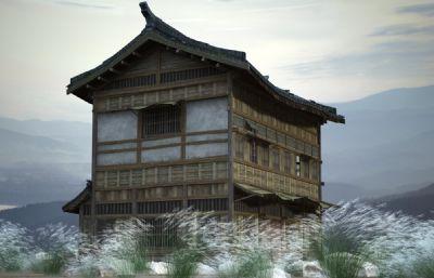 古代房子,吊�_�枪沤ㄖ�3D模型
