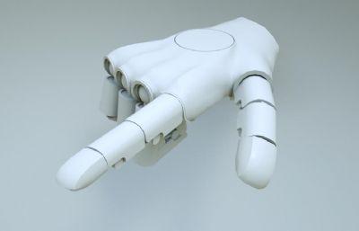 机械手掌,科幻C4D模型