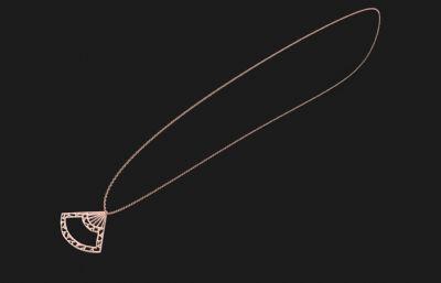 扇子项链3DM模型