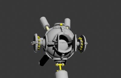 3d球型�w行器模型,需要重新�x予材� 