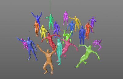 20��人物跳舞街舞模型全新升�版C4D模型,有材� �o�N�D(�W�P下�d)