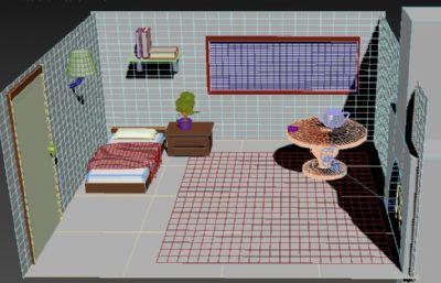 简单卧室max2018模型