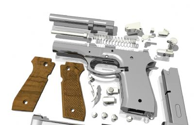 M92F手��拆解�Y��sldprt模型
