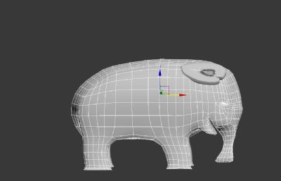 大象3dmax模型,简模